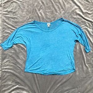 Mossimo Turquoise Blue Parachute Blouse Size L